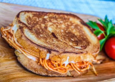 Spaghetti Grilled Cheese  $8.5